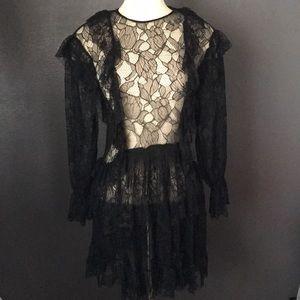 Zara lace ruffle dress